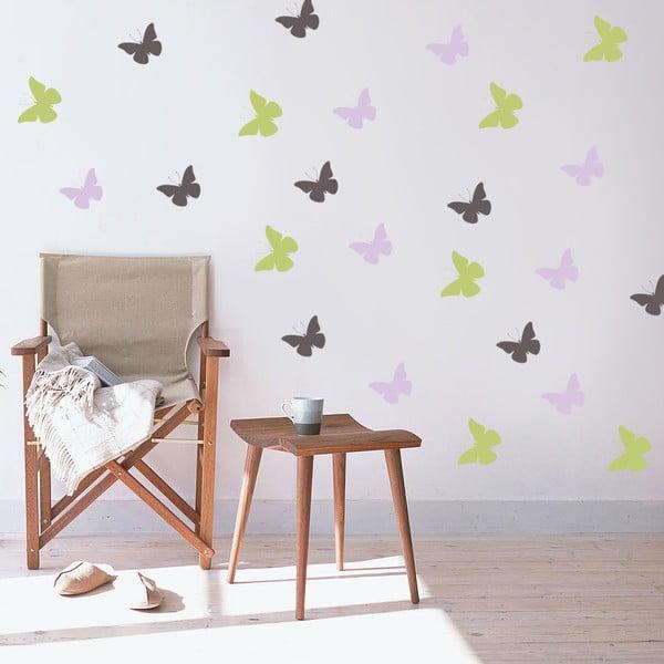 Naklejka Kolorowe motyle, 70x50 cm