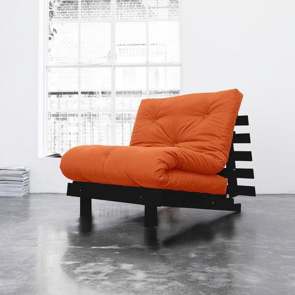 Fotel rozkładany Karup Roots Wenge/Orange