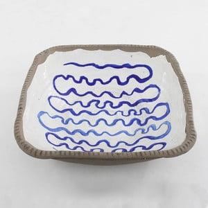 Ceramiczna miska Blue Stripes, 34 cm