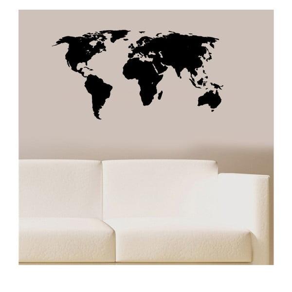 Naklejka winylowa naścienna Mapa Świata