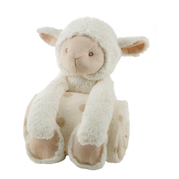 Pluszowa owieczka z kocykiem, 75x100 cm