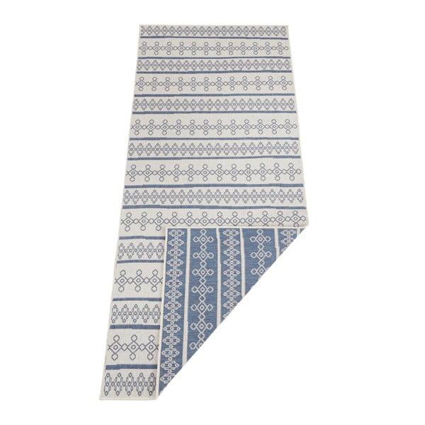 Niebiesko-kremowy dywan dwustronny odpowiedni na zewnątrz Bougari Madeira, 160x230 cm