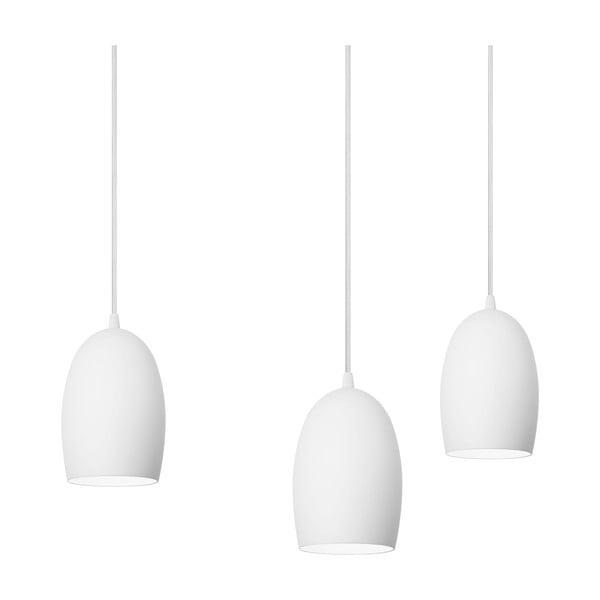Lampa potrójna UME Elementary, mleczna matowa/biała/biała