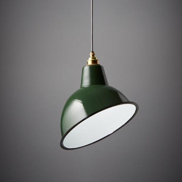 Lampa wisząca Angled Cloche Green