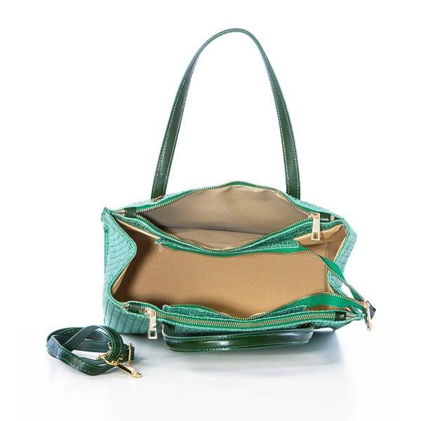 Zielona torebka skórzana Federica Bass Homam
