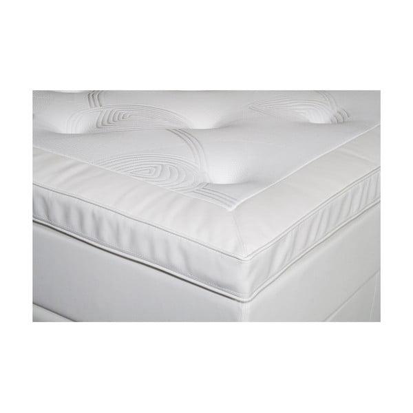 Białe łóżko z materacem Gemega Delux, 160x200 cm