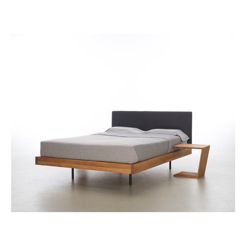 łóżko Z Drewna Dębowego Pokrytego Olejem Mazzivo Smooth 200x220 Cm Bonami
