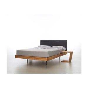 Łóżko z olejowanego drewna dębowego Mazzivo Smooth, 140x200 cm