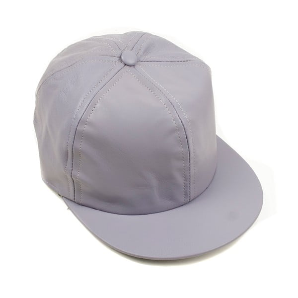 Skórzana czapka z daszkiem Nappa 6 Mauve