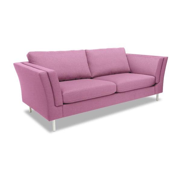 Rózowa sofa dwuosobowa VIVONITA Connor