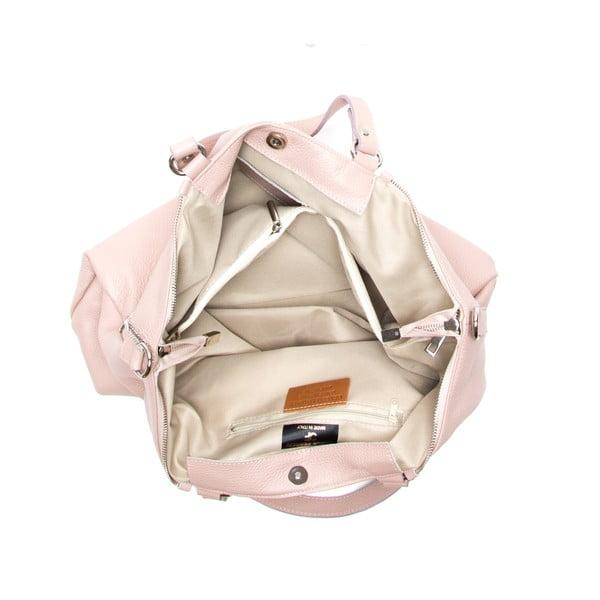Skórzana torebka Fiora, różowa