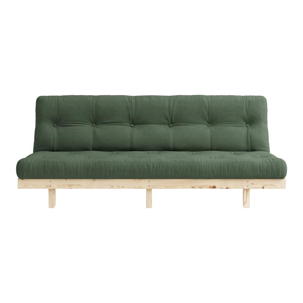 Sofa rozkładana Karup Design Lean Raw Olive Green
