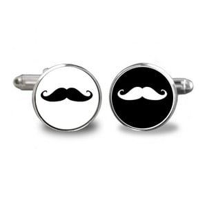 Zestaw 2 spinek do mankietów Butoni de Camasa Moustache