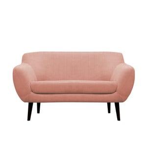 Jasnoróżowa sofa dwuosobowa Mazzini Sofas Toscane