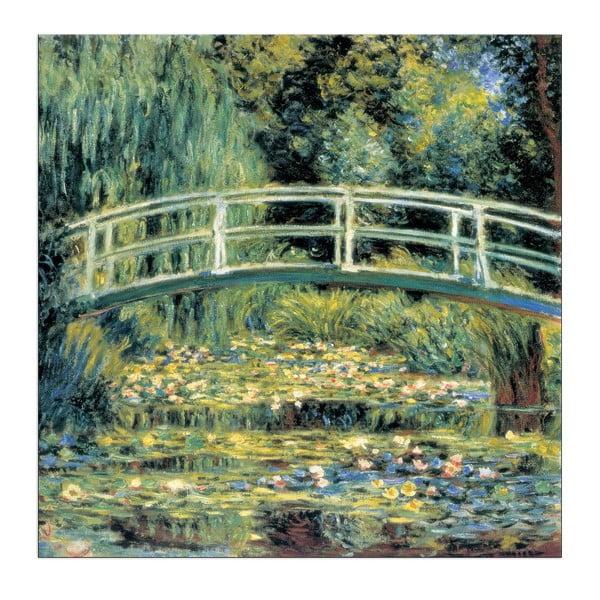 Obraz Claude Monet - Le pont japonais, 30x30 cm
