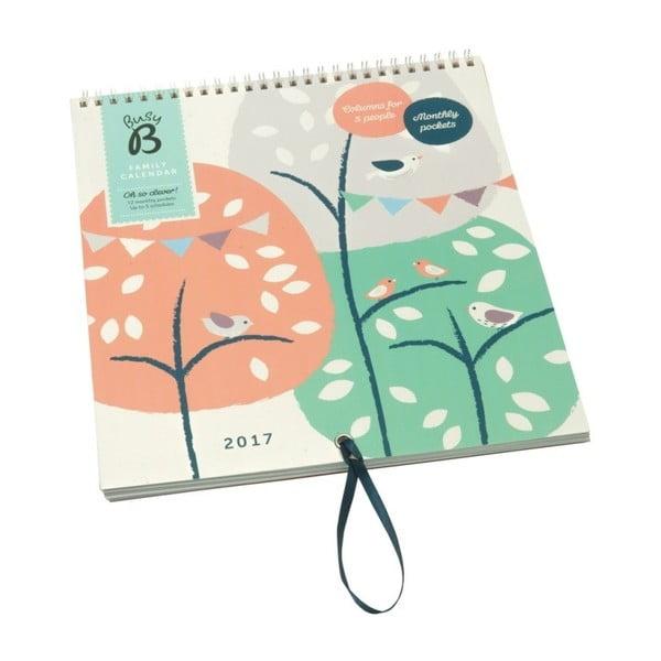 Kalendarz ścienny Busy B Family Treehouse/Bird 2017