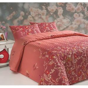 Pikowana narzuta z poszewkami na poduszki Sultana Red, 200x220 cm