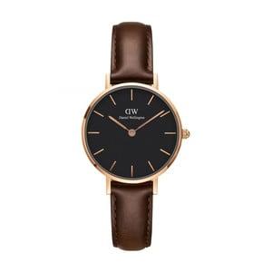 Zegarek damski z czarnym cyferblatem i z detalami w różowozłotej barwie Daniel Wellington Petite Bristol, ⌀28mm