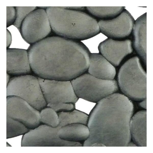Gumowa wycieraczka Mars&More Silver Stones, 75x45 cm
