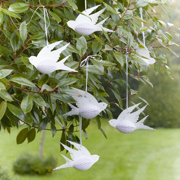 Papierowe dekoracje Honeycomb Birds, 3 szt.