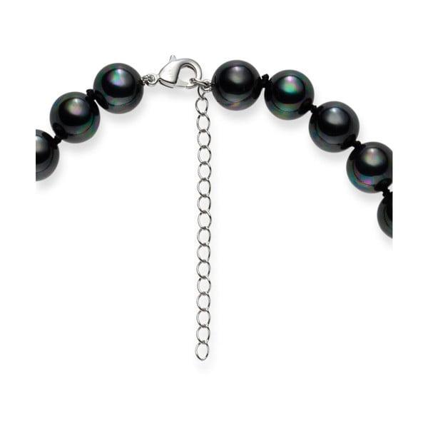 Ciemno-szary   naszyjnik z pereł Pearls of London Mysti, 45 cm