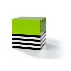 Szkatułka na biżuterię Remember Stripes & Green