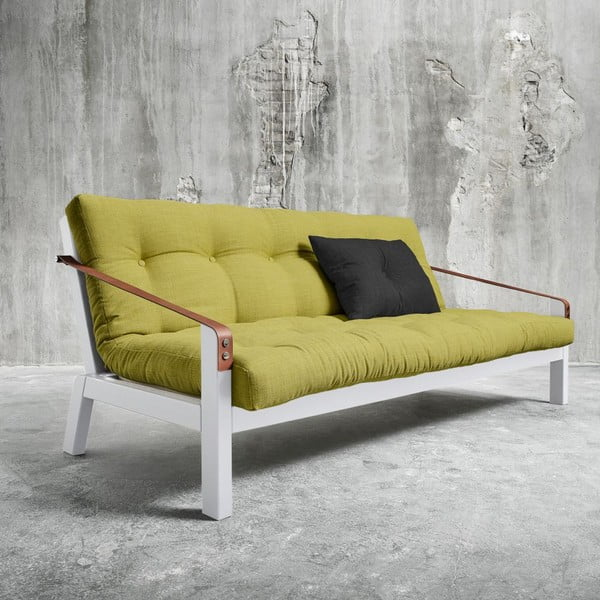 Sofa rozkładana Karup Poetry White/Avocado Green/Dark Grey