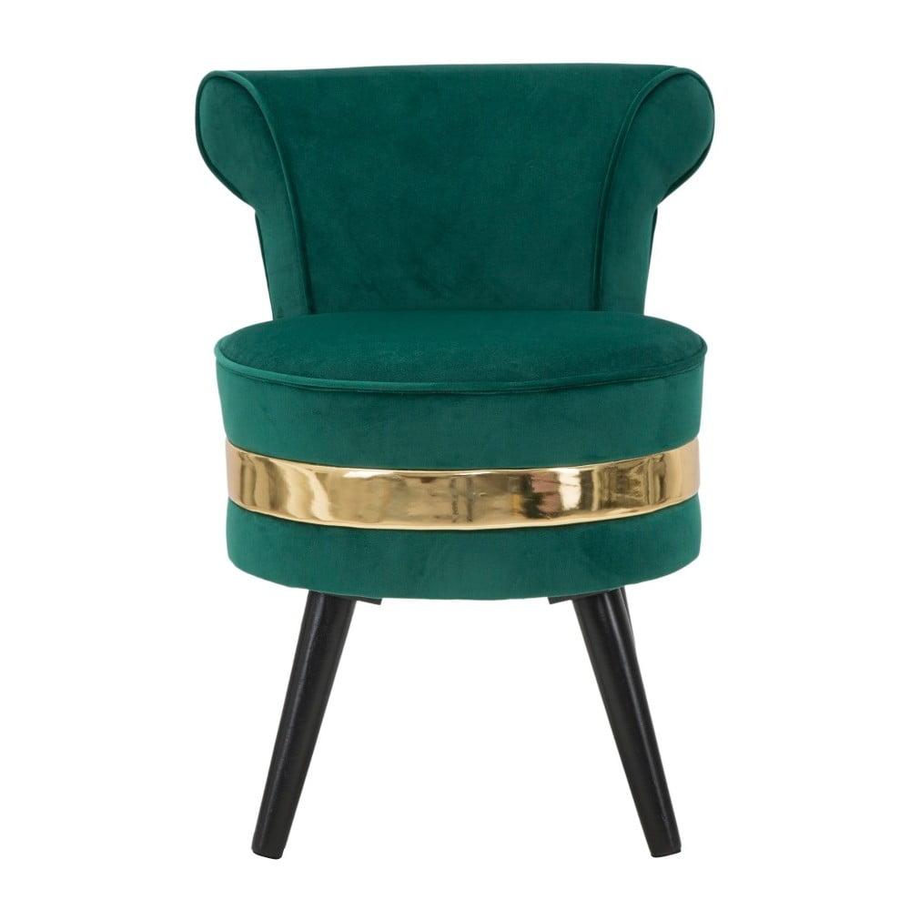 Ciemnozielony fotel tapicerowany z niskim oparciem Mauro Ferretti Paris