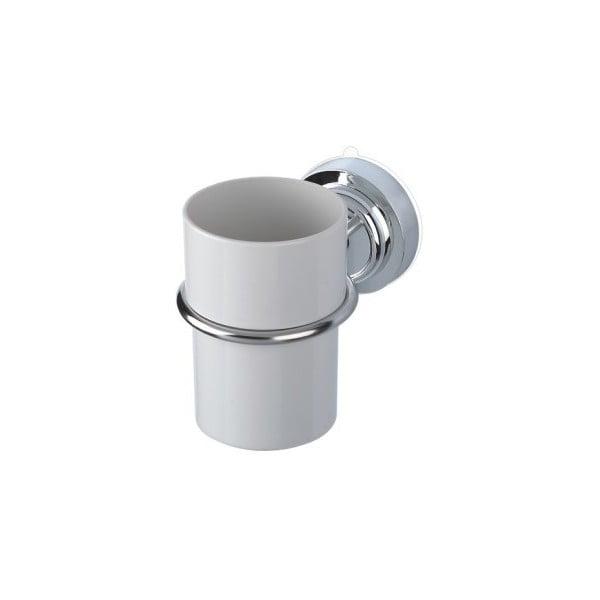Kubeczek na szczoteczki z przyssawką i stalowym uchwytem ZOSO Cup