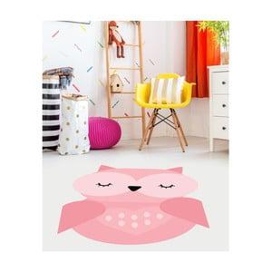 Różowy dziecięcy dywan winylowy Floorart Sowa, 70x100 cm