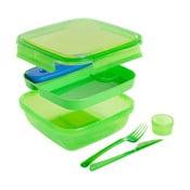 Zielony pojemnik na lunch ze sztućcami i z wkładem chłodzącym Snips Lunch, 1,5l