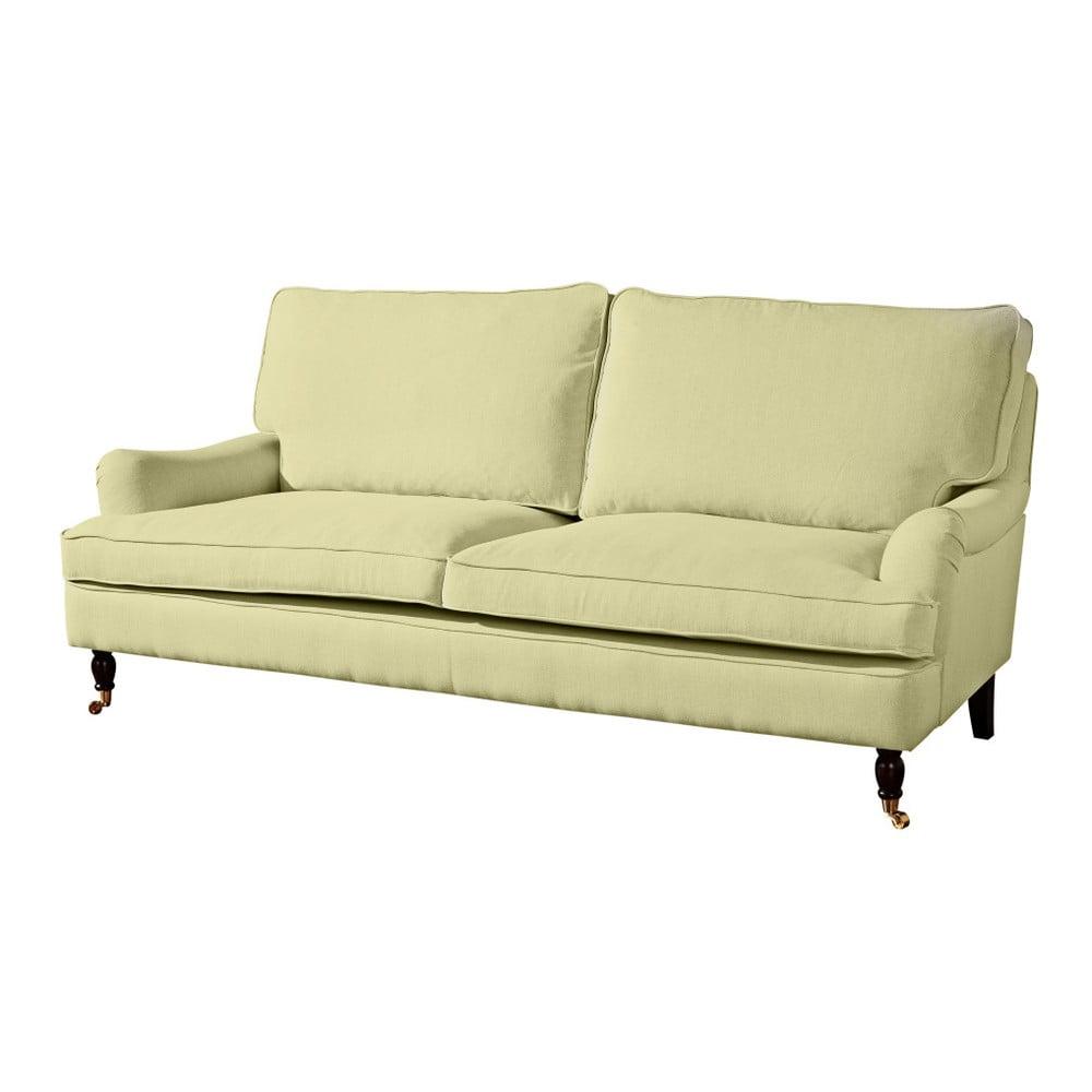 jasnozielona sofa trzyosobowa max winzer passion bonami. Black Bedroom Furniture Sets. Home Design Ideas