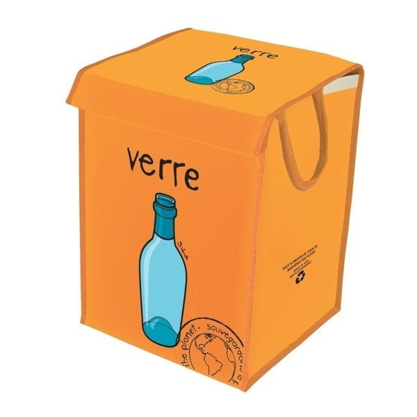 Pomarańczowy  kosz do segregacji szkła Incidence Rubbish for Recycling