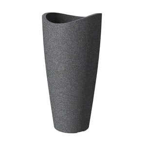 Donica ogrodowa Wave 80x39,5 cm, czarna
