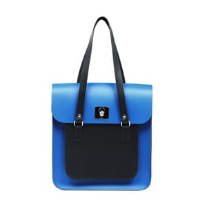 Skórzana torebka Rosemont Royal Blue/Black XL
