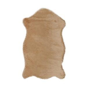 Brązowy dywan ze sztucznej skóry Dione, 100x75 cm