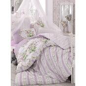 Fioletowa pościel na łóżko dwuosobowe Love Colors Loure, 200 x 220 cm
