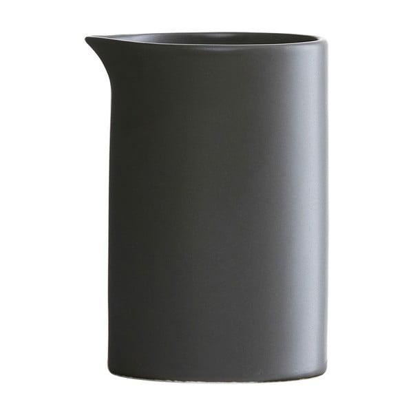 Czarny porcelanowy mlecznik House Doctor Milky