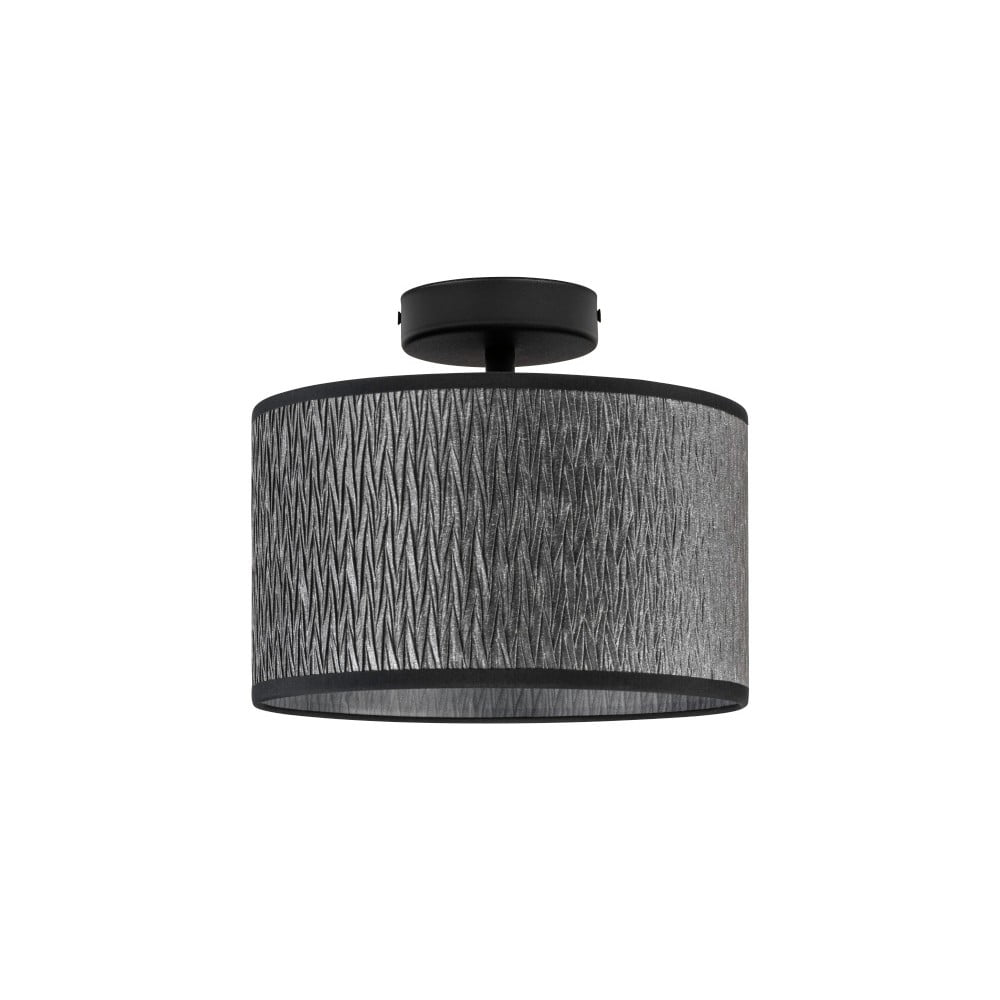 Czarna lampa sufitowa Bulb Attack Once, ⌀ 25 cm