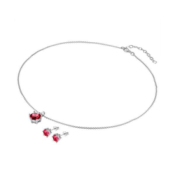 Naszyjnik i kolczyki z kryształami Swarovski Lilly & Chloe Alexandre