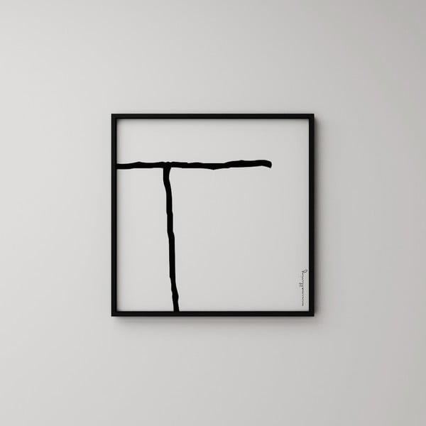 Plakat Litera T, 50x50 cm