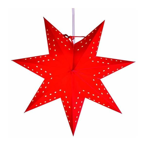 Świecąca gwiazda ze stojakiem Bobo Red, 34 cm