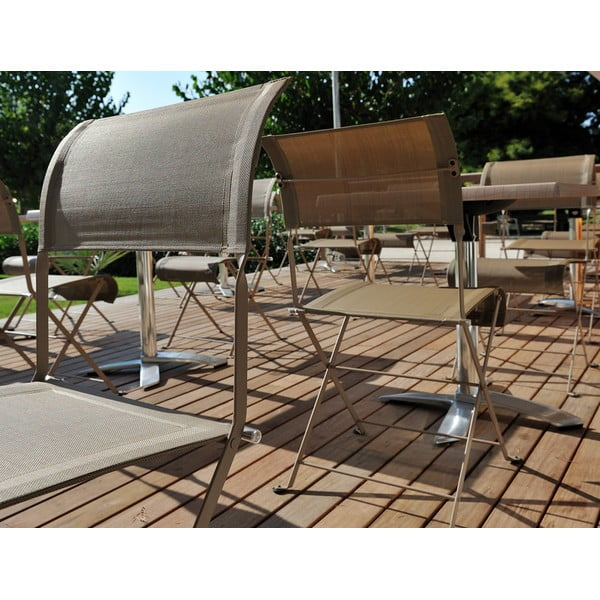 Zestaw 2 różowych krzeseł składanych Fermob Dune