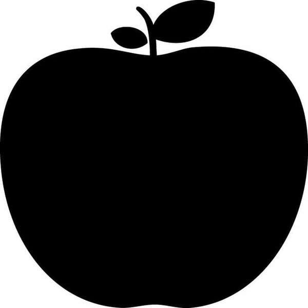 Tablica samoprzylepna z kredowym mazakiem Ambiance Apple Blackboard