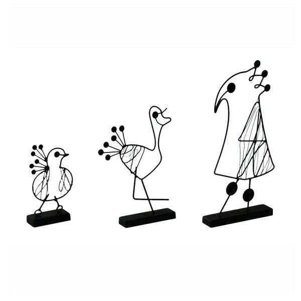Dekoracja Oiseau, 3 szt.