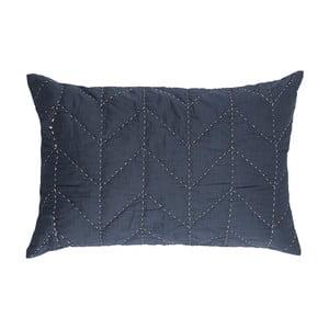Niebieska pikowana poszewka na poduszkę A Simple Mess Molly, 60x40cm