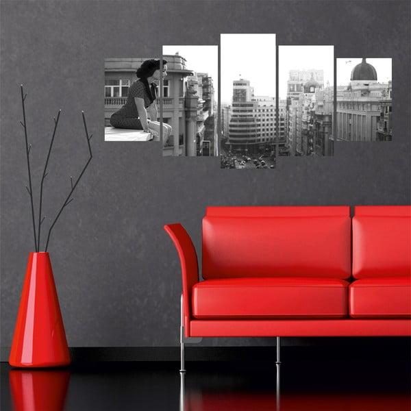 Wieloczęściowy obraz Black&White no. 39, 100x50 cm