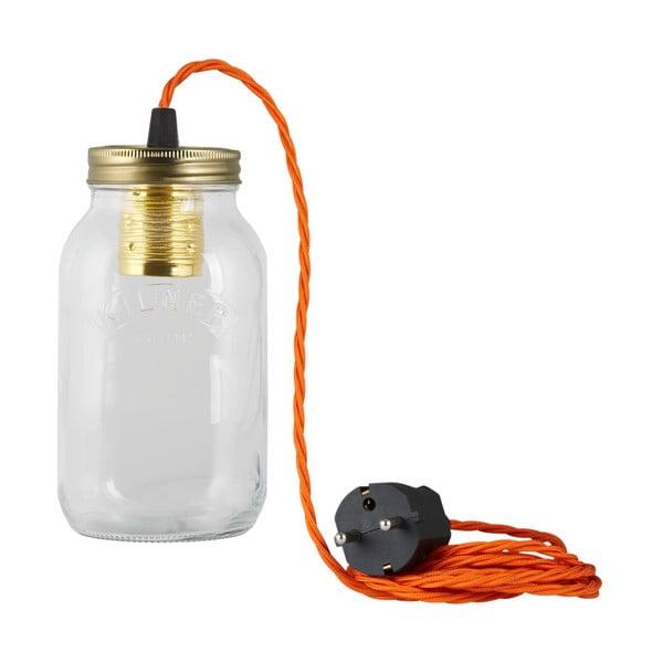 Lampa JamJar Lights, pomarańczowy skręcony kabel