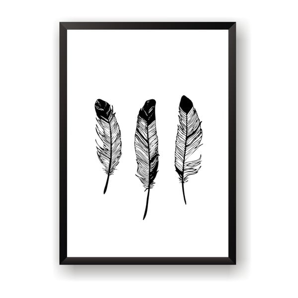 Plakat Nord & Co Feathers, 50x70 cm