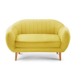 Sofa dwuosobowa Comete Stripes Yellow
